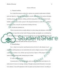Divorce Essays Cause And Effect Divorce Research Paper Example Topics