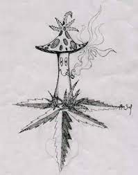The easiest way to draw a pot leaf. Im Going To Draw This Trippy Drawings Psychedelic Drawings Drawings