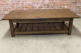 Slatted Coffee Table Rustic Coffee Table With Slatted Shelf Design Ecustomfinishes