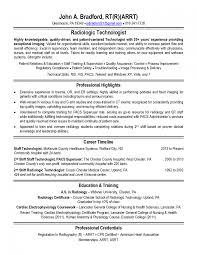Radiologic Technologist Resume Examples Medical Sample Philippines ...