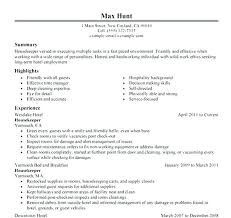 Resume Sample Hospital Housekeeping Resume Examples Playcineorg Awesome Housekeeping Resume Skills