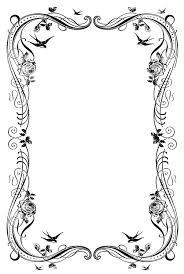 8 Fancy Paper Border Designs Images Fancy Frame Borders Black