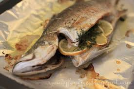 cooking time will vary depending on the size of the fish but you will know it is done if a skewer or sharp knife inserted
