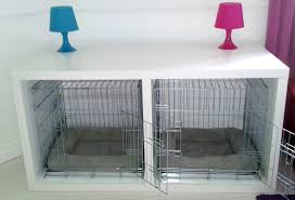 How to make a dog crate Indoor Dog Crate Ikea Malm Desk Hack Womanswisdom Dog Crate System Housed In Desks Ikea Hackers