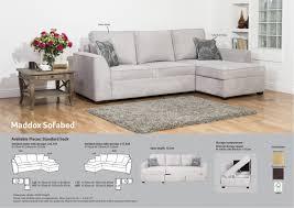 buoyant maddox 2 piece corner with sofa bed