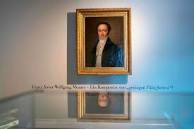 portrait of franz xaver wolfgang mozart on display at 2016 exhibition at the mozart residence