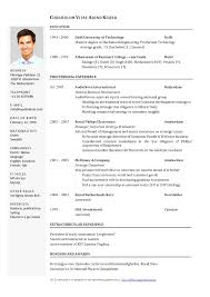 Curriculum Vitae Format Fascinating Curriculum Vitae Example Word Malawi Research