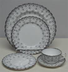 Spode China Patterns Beauteous Spode Fleur De Lys Grey Gray Dinner Service For 48