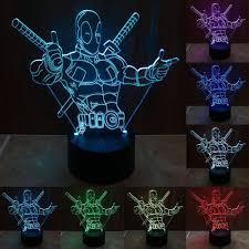 Deadpool Thumb Gun 3d Led Lamp Hologram Superheroes Corner