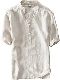 utcoco <b>Men's</b> Vintage <b>Round Collar</b> Chinese Style Henley Shirts ...