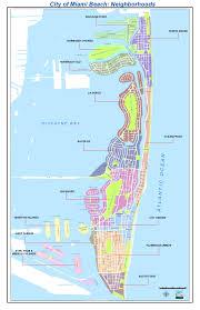 neighborhoods map  city of miami beach