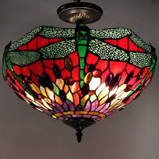 lighting tiffany pendant lights creative tiffany style dragonfly ceiling lamp free today