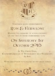 serena masonde harry potter wedding invitation set