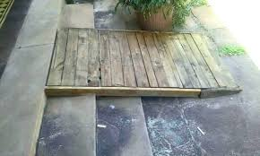 wooden wheelchair ramp wood plans how to build a over stairs existing pallet entryway handicap