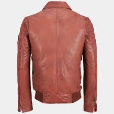 leather er shirt jacket black rivet patch