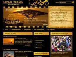Dj Safari Free Travel Joomla Template Freemium Download