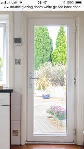 double glazed white upvc door for full glass unit