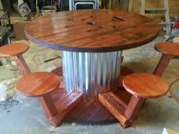 spool table diy awesome made from a wire spool turjardineria great i do not have plans