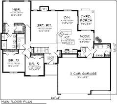 2000 square foot one level house plans home deco plans