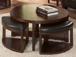 coffee table amusing dark brown round vintage wood coffee table with chairs under laminated ideas