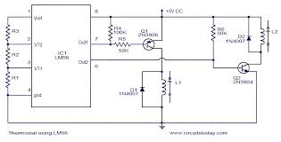 thermostat using lm56 electronic circuits and diagram Thermostat Schematic Diagram thermostat using lm56 thermostat schematic diagram