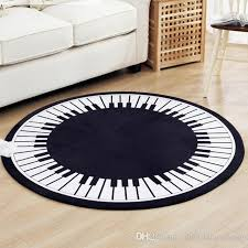 europe classic black white round rugs polyester piano circle carpet for parlor yuga meditation rug diameter 80cm 100cm 120cm shaw rugs afghan rugs from