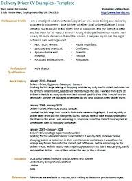 Delivery Driver Sample Resume Here Is Delivery Driver Template Your