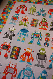 241 best Quilts - Kids images on Pinterest | Quilt patterns ... & robot riot quilt pattern by Kellie of Don't Look Now Alot of hard work here Adamdwight.com