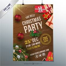 Free Christmas Flyer Templates Download Christmas Party Cmyk Flyer Vector Free Download