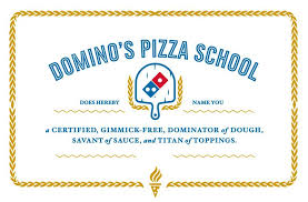 Making A Certificate Dominos Pizza School Master Of Pizza Making Certificate 9 5