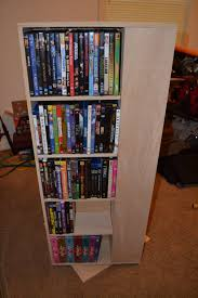 my first project spinning dvd rack
