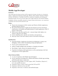 Senior Programmer Job Description Adorable Mobile Developer Job Description Trisamoorddinerco