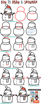 They're most famous cat and mouse duo who cause. How To Draw A Snowman Easy Step By Step Drawing Tutorial For Kids How To Draw Step By Step Drawing Tutorials