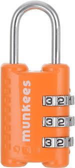 <b>Брелок</b>-<b>замок Munkees</b>, <b>кодовый</b>, <b>цвет</b>: оранжевый — купить в ...