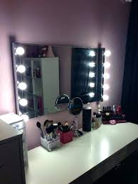 makeup lights white mirror with vanity design desk countertop mirrors light magnifying makeu