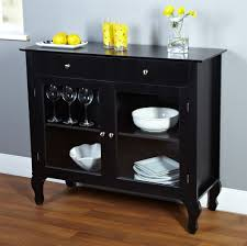 ... Buffet Table With Glass Doors Glass Door Credenza Black Lacquered  Credenza With Double Glass ...