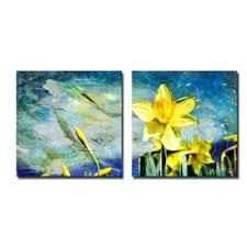 painted petals vii 2 piece graphic art on canvas set on 2 piece wall art wayfair with 20 x 60 wall art wayfair