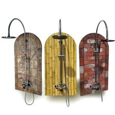 outdoor shower kit kits showers theme pic solar heated outdoor shower kit