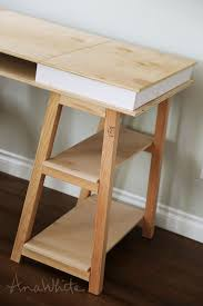 sawhorse storage leg desk