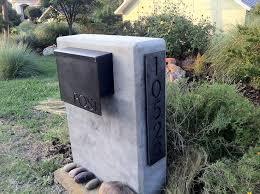 custom mailbox. Gibson Custom Mailbox On Slab - Bold MFG A