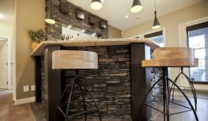 basement bar stone. Pioneering Exquisite DesignStone Basement Wetbar And Dark Wood Cabinetry  Transitional-home-bar Bar Stone