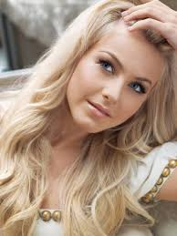 julianne hough with lightest ash blonde hair and light brown eyebrows