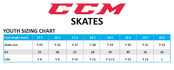 Toddler Hockey Skate Size Chart Ccm Tacks 1052 Youth Ice Hockey Skates Hokejam Com