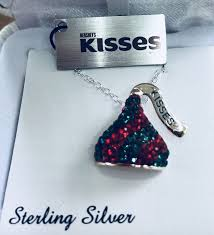 hershey s kiss pendant with swarovski crystals on a sterling silver chain for in la porte tx offerup