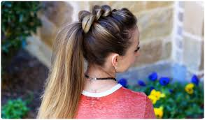 Hair Style Girl pullthru ponytail cute girls hairstyles youtube 7340 by wearticles.com