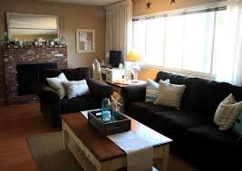living room with black furniture. Image Of: New Black Brown Living Room Furniture With T