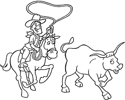 Small Picture Cowboy Coloring Pages 8 Purple Kitty