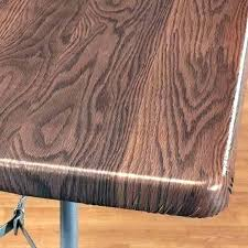 vinyl table covers elastic wood grain elasticized cover view 1 round tablecloths 90 inch