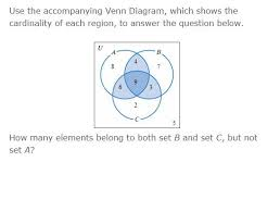 Elements Of A Venn Diagram Solved Use The Accompanying Venn Diagram Which Shows The