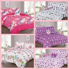 pink owl bed bedroom pillow bedding set
